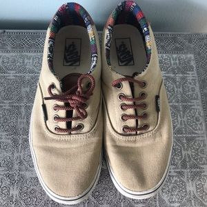 Vans Canvas and Leather Trim Sneakers